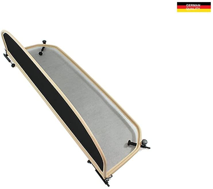Wind Deflector for BMW E93 (2007-2014) - Foldable - with Quick Release Fastener - Beige | Windstop | Wind Blocker
