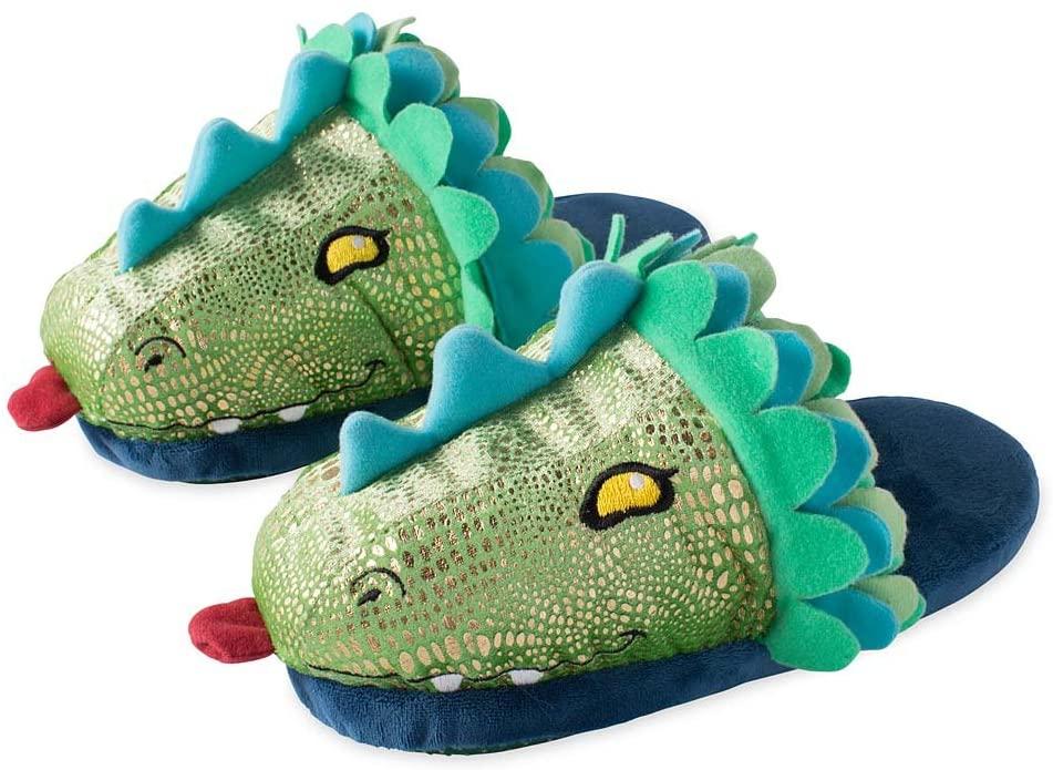 HearthSong Kids' LED Light-Up Dragon Slippers - Medium, Child's 12 1/2 - 2 1/2