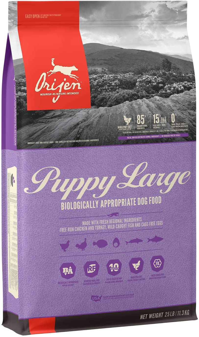 ORIJEN Puppy Large High-Protein, Grain-Free, Premium Quality Meat, Dry Dog Food