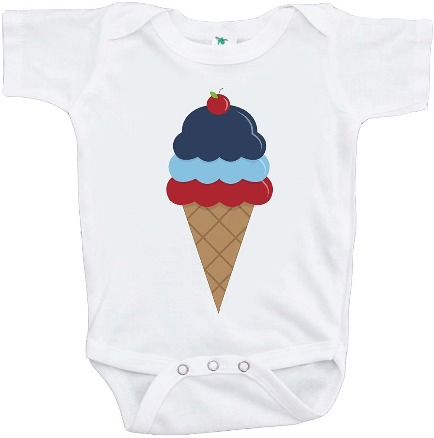 Custom Party Shop Baby's Ice Cream 4th of July Onepiece