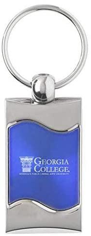 LXG, Inc. Georgia College & State University - Wave Key Tag - Blue