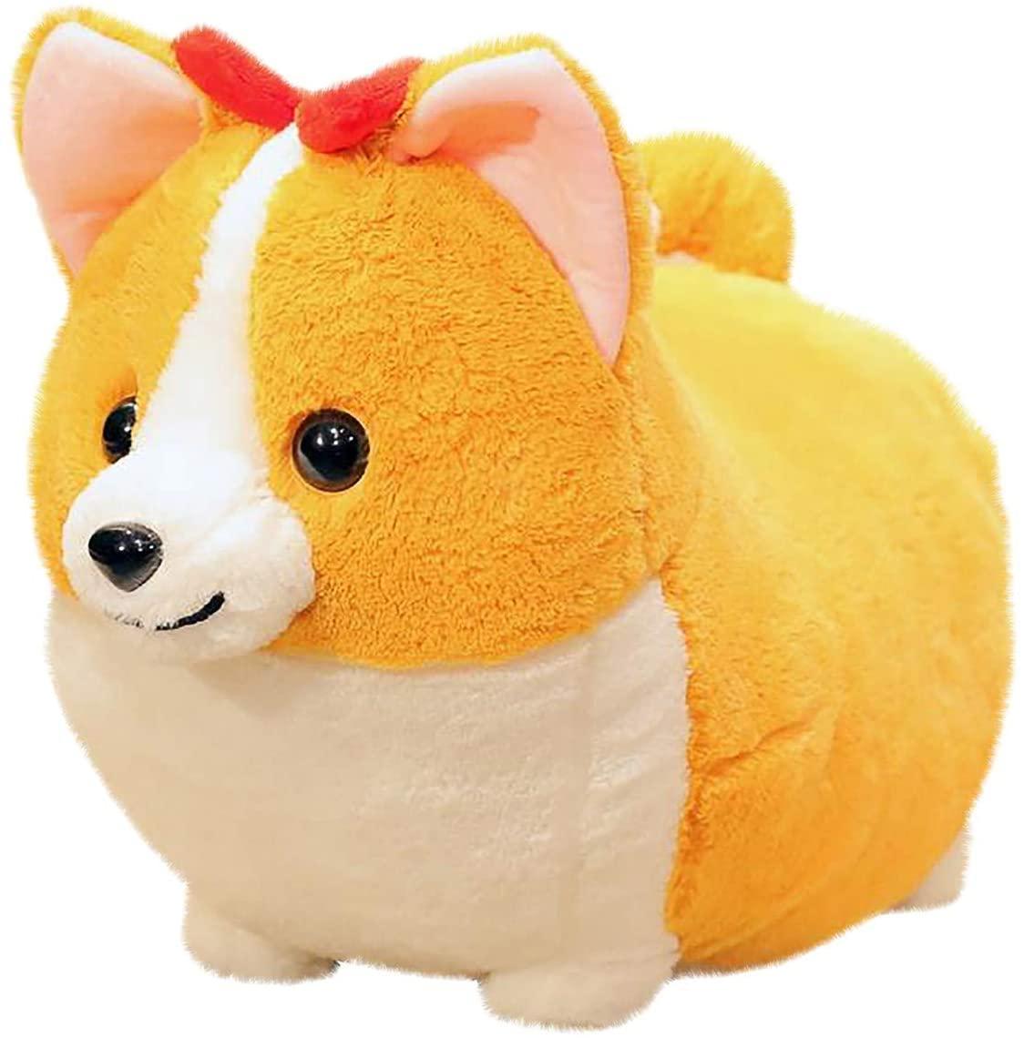 Bomden Cute Short-Legged Corgi Plush Doll Cute Short-Legged Corgi Doll Ornaments Fat Corgi Plush Toy Pillow Gift
