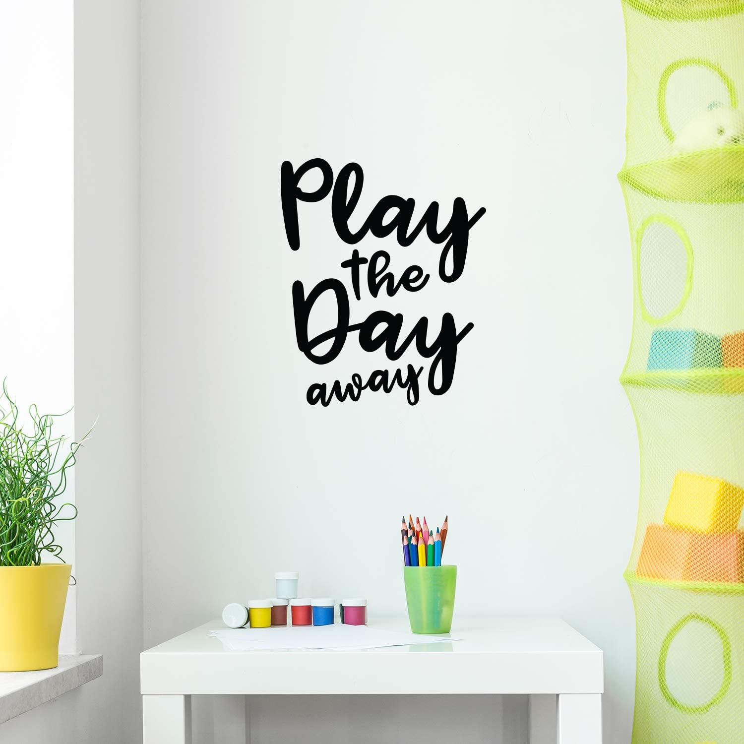 Vinyl Wall Art Decal - Play The Day Away - 23