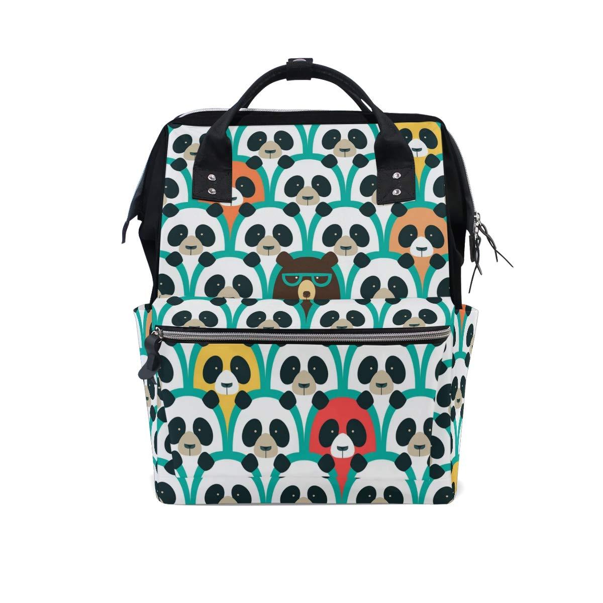MERRYSUGAR Diaper Bag Baby Bag School Backpack Mommy Bag Cute Bear Funny Animal Large Multifunction Travel Bag Mommy Bag