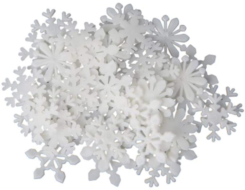 50Pcs Glow in The Dark Luminous Snowflake Fluorescent Wall Stickers Decals for Home Art Decor Ceiling Wall Decorate Kids Babys Bedroom Room Decorations