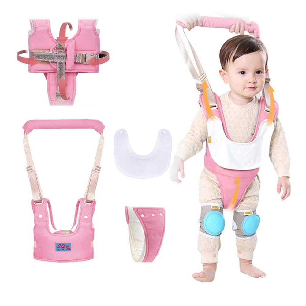 Baby Walking Harness Safety Assistant,Multifunction Standing Up & Walking Learning Helper for Toddler 7-24 Month,Great Gift for Baby-Pink