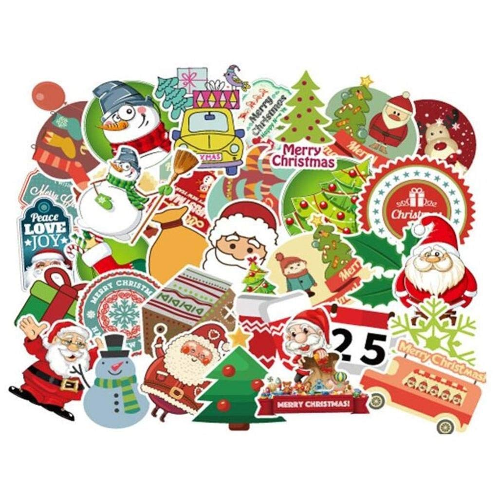 Christmas 100pc Non-repetitive Suitcase Skateboard Motorcycle Waterproof Sticker Christmas Decoration