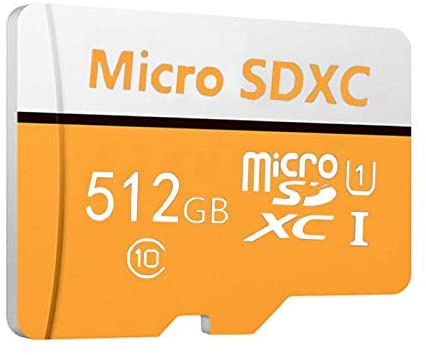 Micro SD Card Class 10 UHS-I Micro SDXC Memory Card with SD Adapter, microSD Card for Gopro/HD Video Play (512GB Orange)