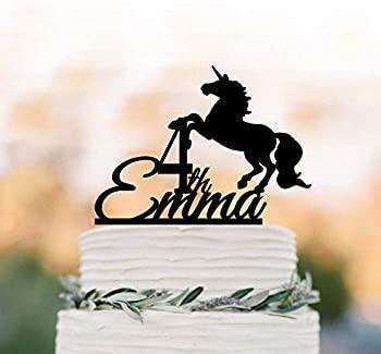 Cake Topper-Unicorn birthday cake topper Personalised Silhouette