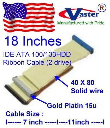 SuperEcable - 20440-3PCS / Pack - IDE ATA 40/80 Flat (Ribbon) Data Cable 2 Drive / 18 Inches