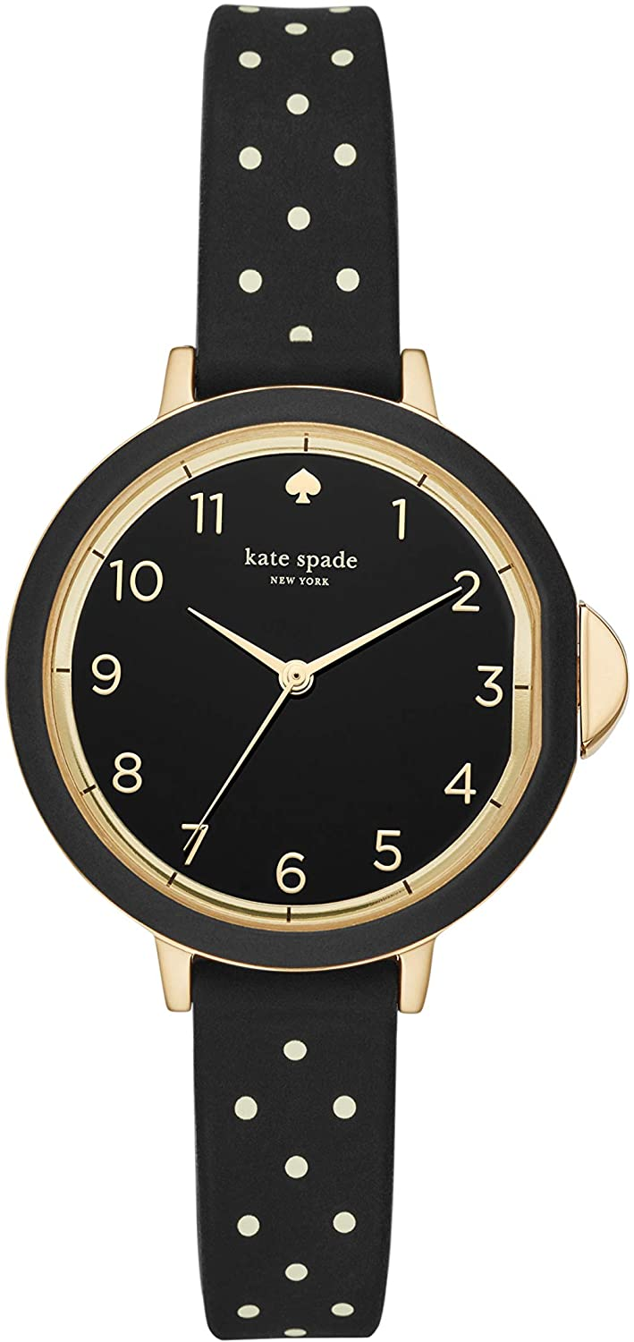Kate Spade New York Women's Park Row Stainless Steel and Silicone Quartz Watch