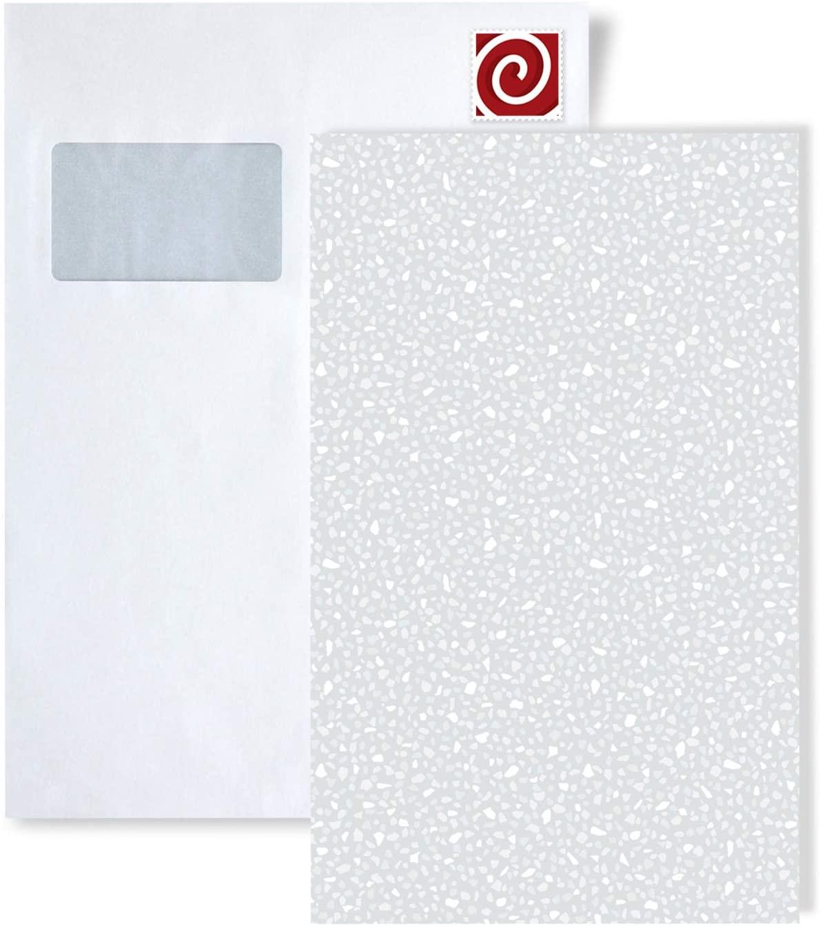 1 Sample Piece S-VD219121-DI Profhome Elegant Stone Look unicolour Wallpaper Sample in DIN A4 Size