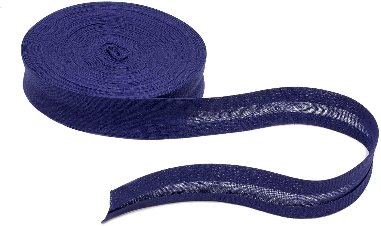 Cotton Bias Binding 20 mm Wide Single Fold - Navy Blue - 5 Yards