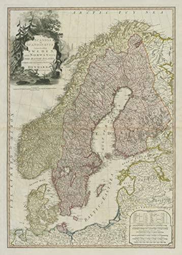 Scandia or Scandinavia comprehending Sweden & Norway DELAROCHETTE/FADEN - 1794 - Old map - Antique map - Vintage map - Printed maps of Scandinavia
