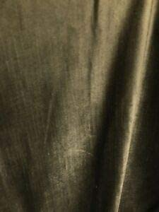 Olive Brown Cotton Velvet Medium Weight Upholstery Fabric (57 in.) Sold BTY