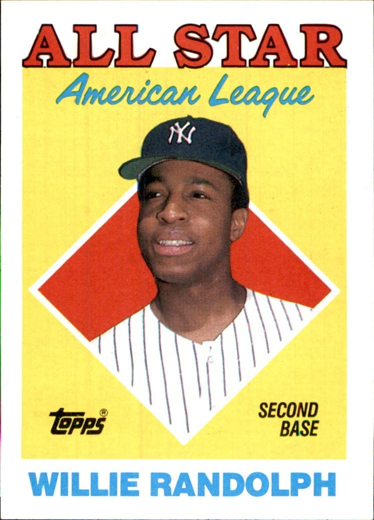 1988 Topps #387 Willie Randolph NEW YORK YANKEES MLB Baseball Trading Card (Sku7JLa)