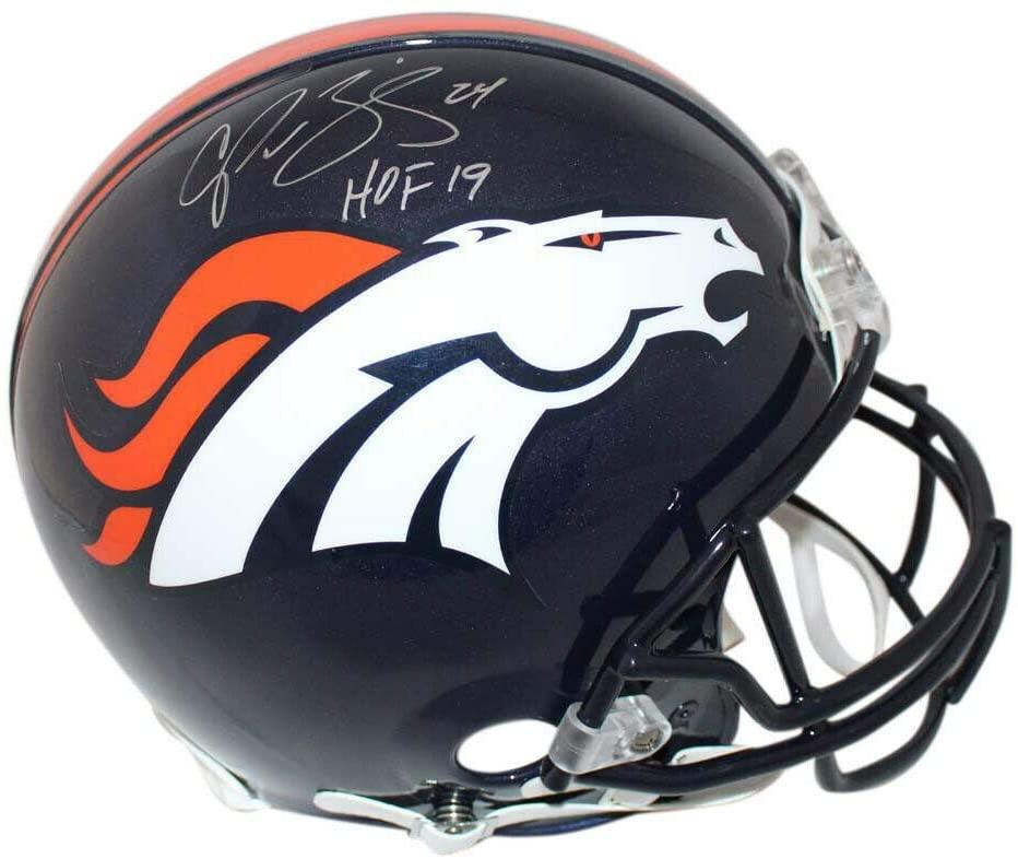 Champ Bailey Autographed/Signed Denver Broncos Authentic Helmet HOF JSA 23972 - Autographed NFL Helmets