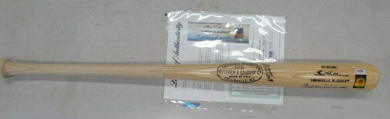 Ted Williams Hand Signed Auto Autograph Baseball Bat Red Sox PSA Green D - MLB Autographed Game Used Bats