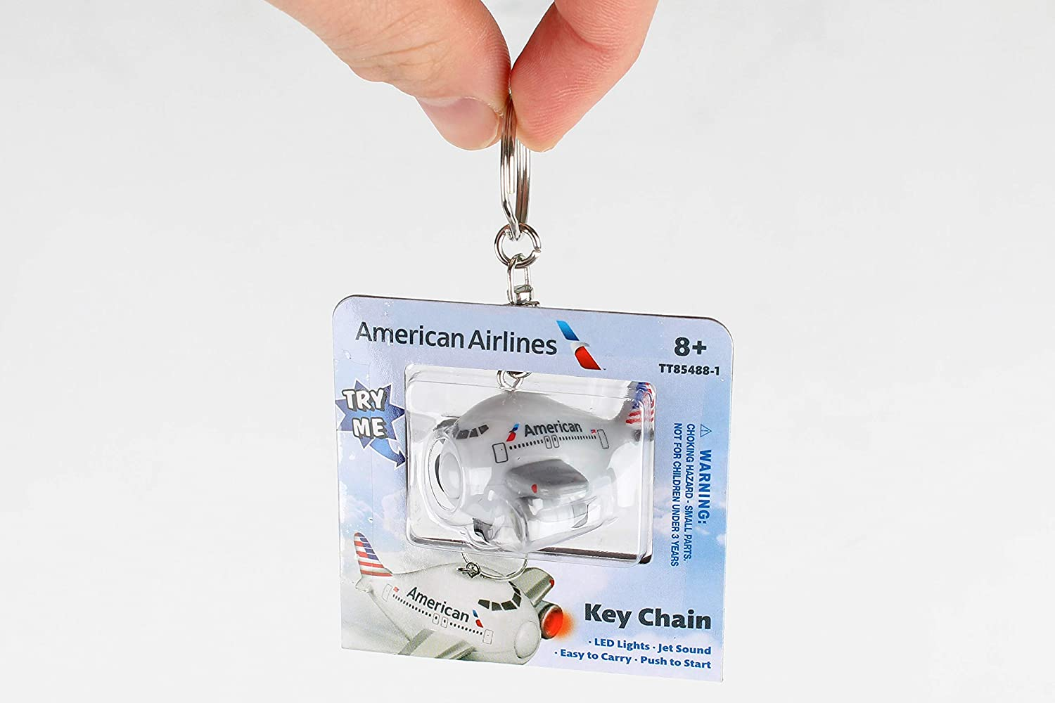 Daron American Airlines Keychain W/Light & Sound