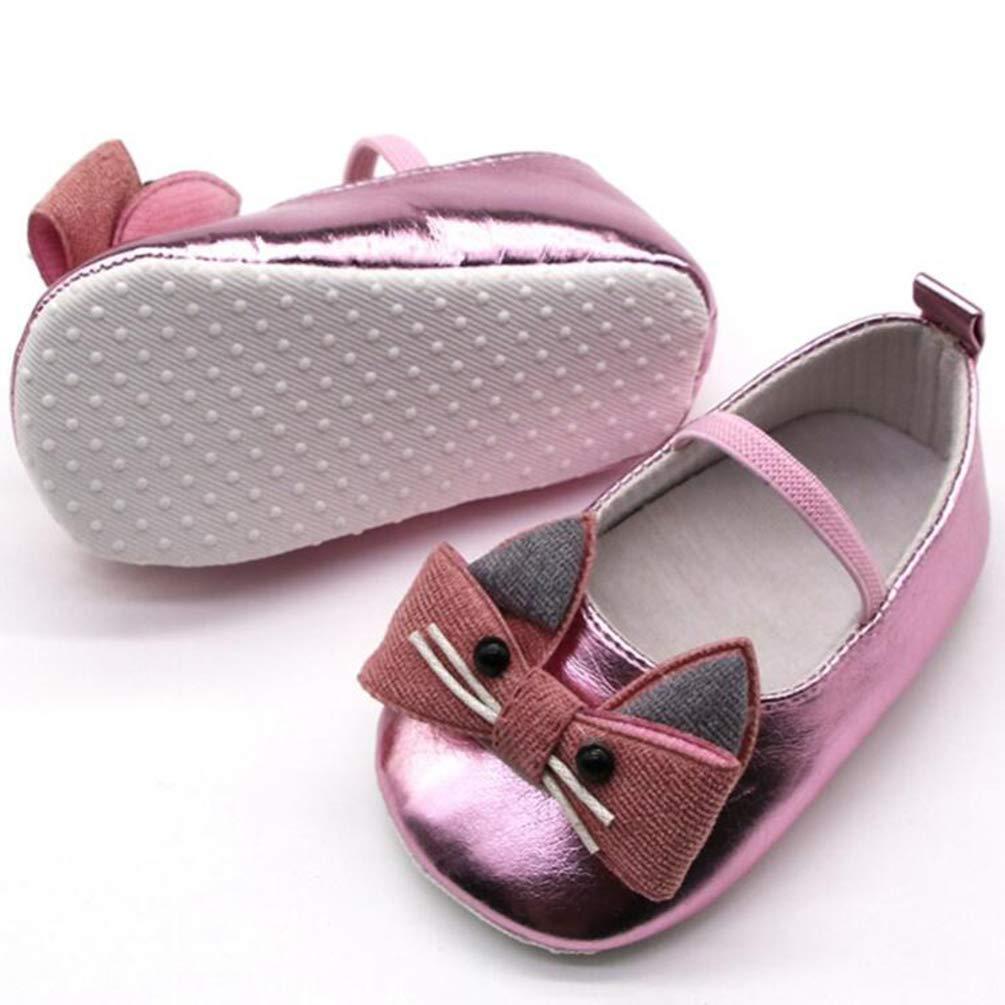 Toddler Newborn Baby Shoes First Walkers Cartoon Cat Shoes Crib Bebe Girls Princess Ballet Soft Soled Anti-Slip Footwear