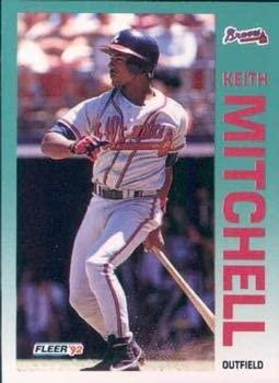 Keith Mitchell 1992 Fleer Baseball Card #364 Atlanta Braves