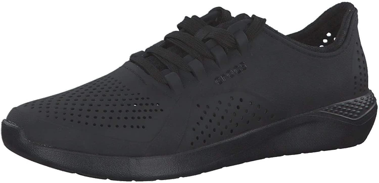 Crocs Men's LiteRide Pacer Sneaker, Black, 9 M US
