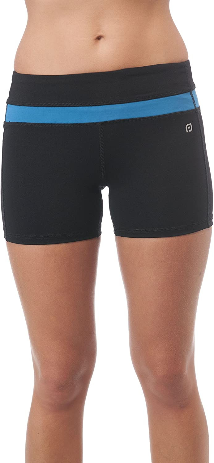 Hollywood Star Fashion Solid Poly Spandex Active Wear Shorts