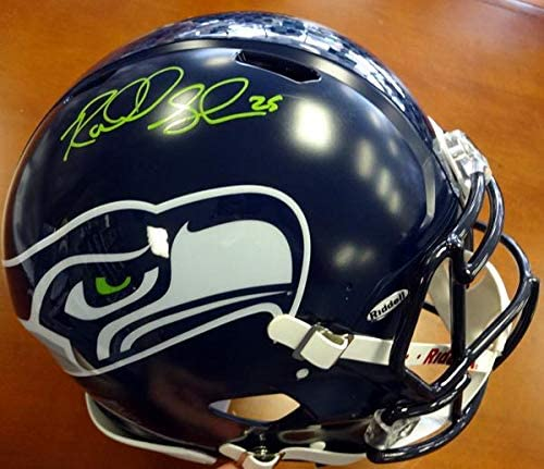 Richard Sherman Autographed Seattle Seahawks Authentic Super Bowl Speed Full Size Helmet In Green RS Holo Stock #72443 - Autographed NFL Helmets