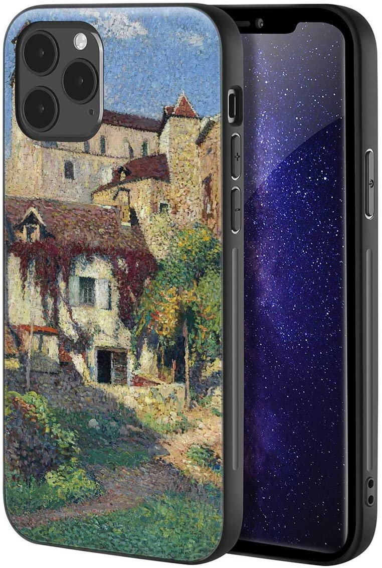 Henri Martin for iPhone 12/iPhone 12 Pro Case/Art Cellphone Case/Giclee UV Reproduction Print on Mobile Phone Cover(Saint Cirq Sun)