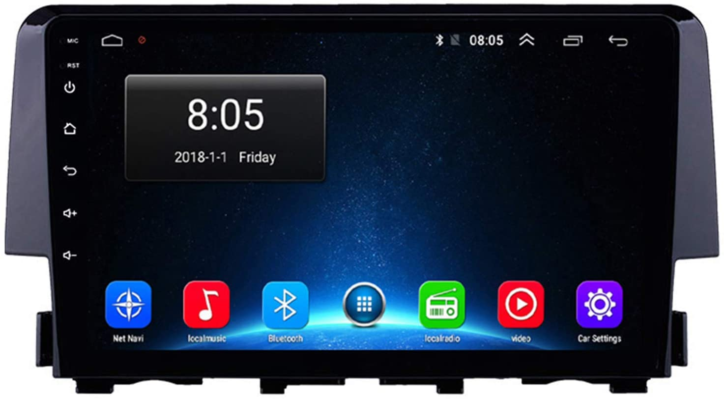 TypeBuilt 9 Inch Android 10 Double Din Car Stereo Car Auto Head Units Player GPS Navigation Car Radio Supports for Honda Civic 2015-2020 Android Auto WiFi OBD2 DVR TPMS,4g,4G+64G