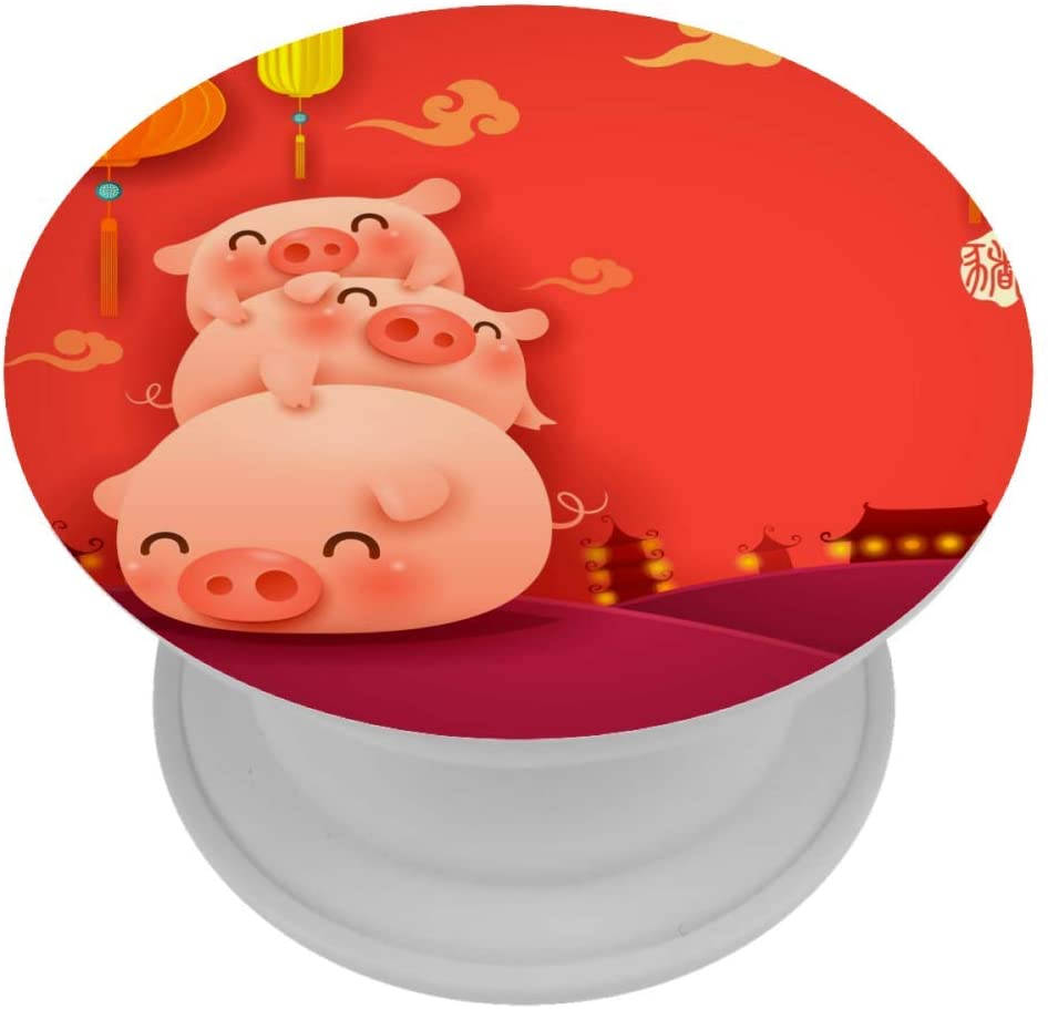 Chinese Festival Cute Pigs Phone Accessory Grip and Stand Expanding Phone Holder 1PCS