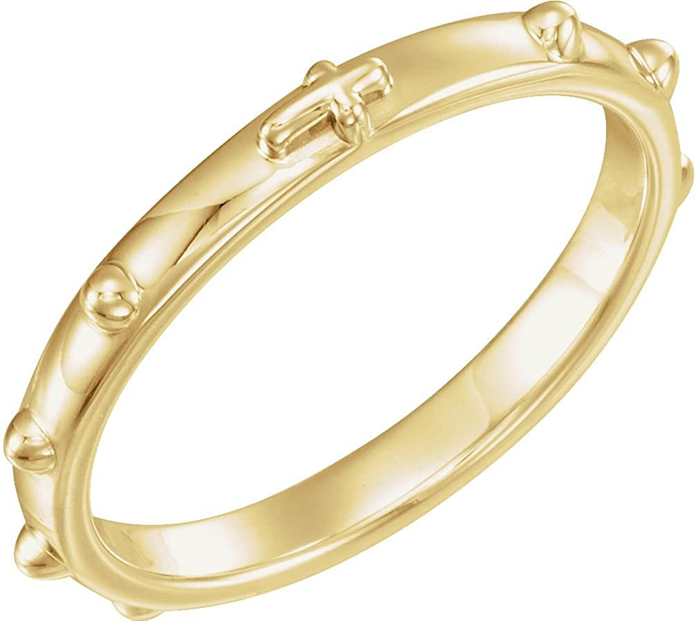 The Men's Jewelry Store (Unisex Jewelry) 14k Yellow Gold 2.50mm Rosary Ring