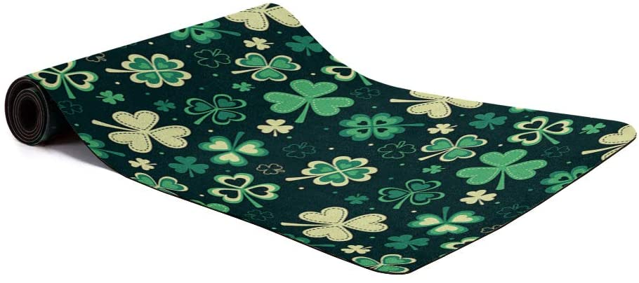 Yoga Mat Non Slip Hot Yoga Mat,Fitness Cushioning Mat Happy St. Patricks Day 1.5mm Thick Non Slip Exercise Mat for Support and Stability in Yoga, Pilates & Gym Floor Workouts