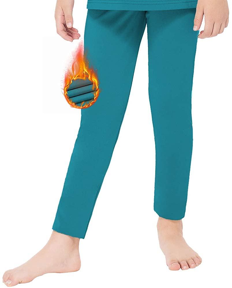 MANCYFIT Thermal Pants for Girls Fleece Lined Leggings Long Underwear Bottoms