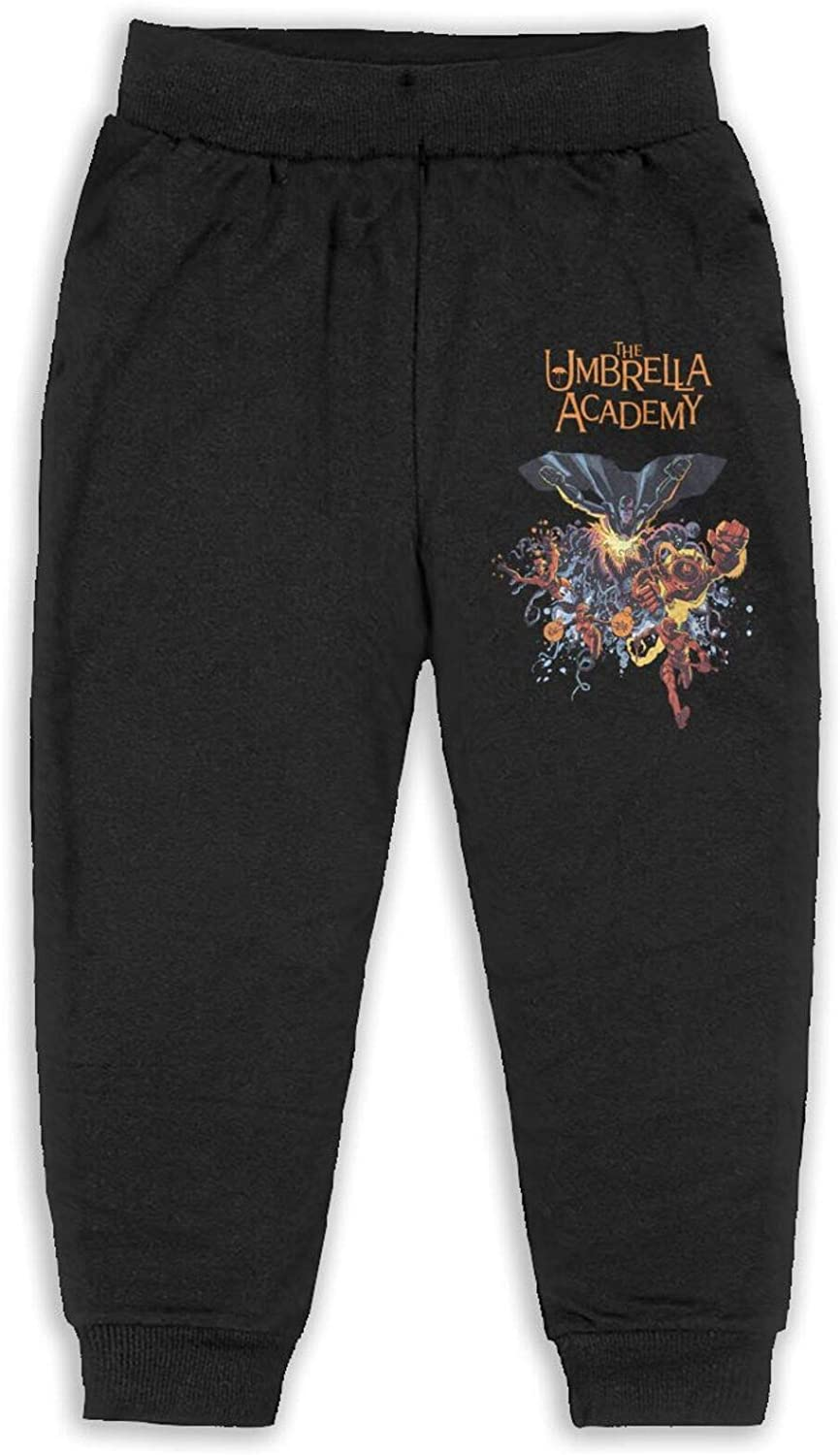 The Umbrella Academy Children 2-6 Years Old Boys and Girls Unisex Sports Pants Casual Cotton Comfort