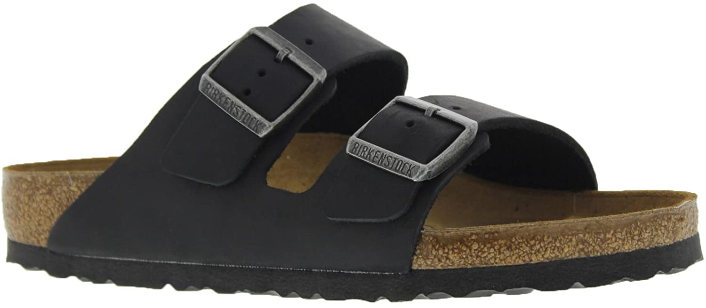 Birkenstock Womens Arizona Black Leather Sandals 42 EU