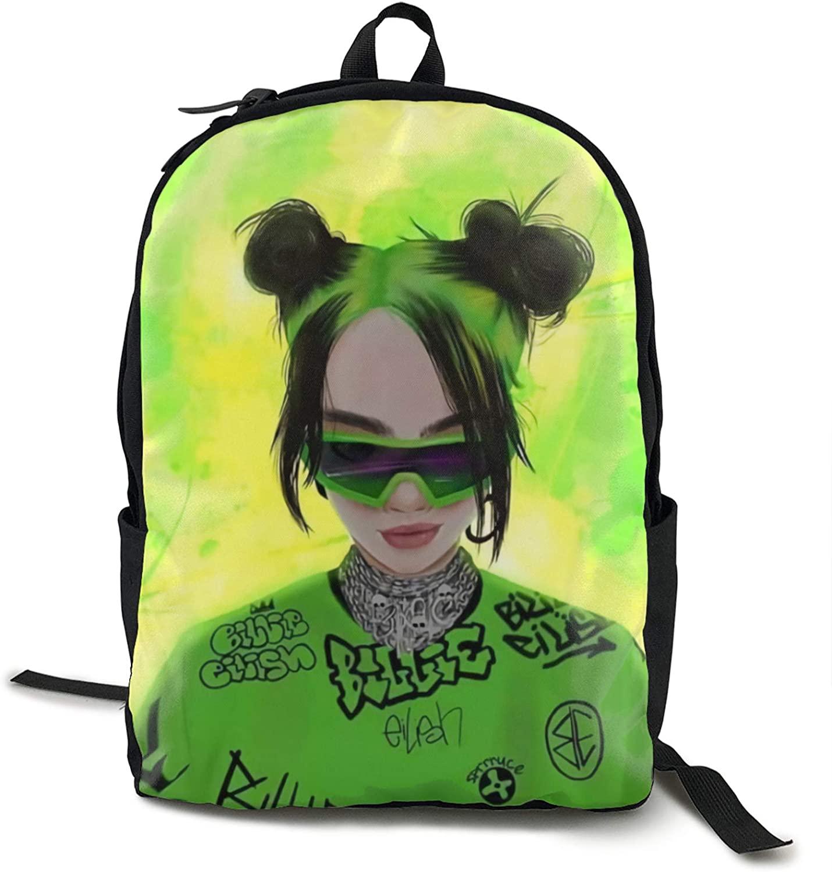Cbmvnc Zc Fashion Bi-Llie & Ei-Lish Big Capacity Backpck College School Bookbag Travel Hiking & Camping Rucksack