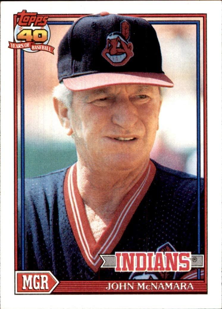 1991 Topps #549 John McNamara Manager CLEVELAND INDIANS MLB Baseball Trading Card (Sku7JLa)