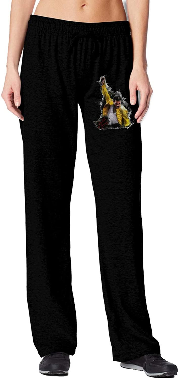 AP.Room Womens Freddie Mercury Versatile Cotton Slim-Fit Track Pants