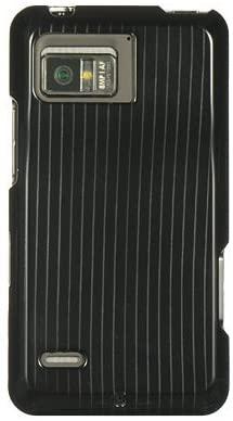 Black Silver Line Premium Design Hard Cover Case for Motorola XT875 Droid Bionic / Targa (Verizon)