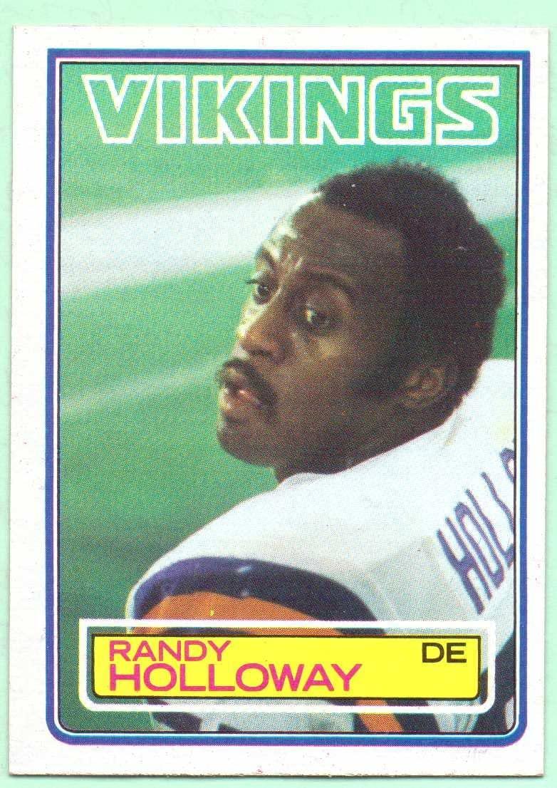 Randy Holloway 1983 Topps #101 - Minnesota Vikings