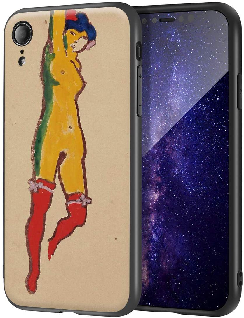 Kees Van Dongen for iPhone XRCase/FineArtCellphoneCase/HighDefinitionGicleeLevelUVReproductionPrintonMobilePhoneCover(Nude Layered in Red Stockings)