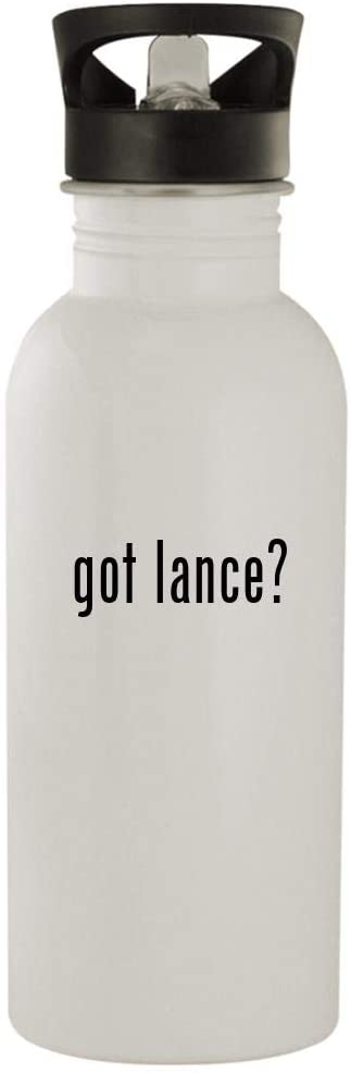got lance? - 20oz Stainless Steel Outdoor Water Bottle, White