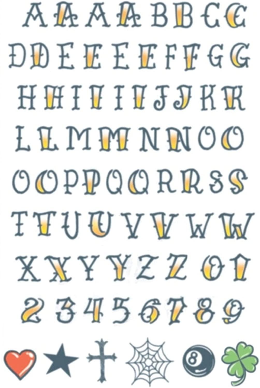 Tinsley Transfers Knuckle Alphabet Temporary Tattoos