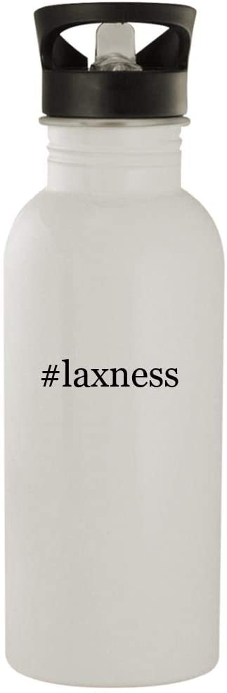 #laxness - 20oz Stainless Steel Water Bottle, White
