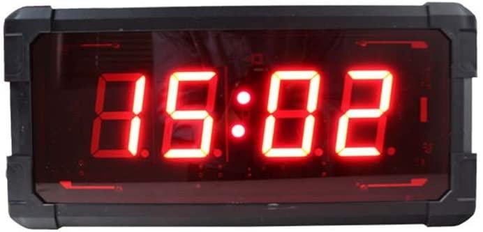 Large digital countdown clock Internal High Fitness Training LED Timer Gym Digital Wall Clock LED Race Clock Timer (Color : Black, Size : 42X20X7CM)