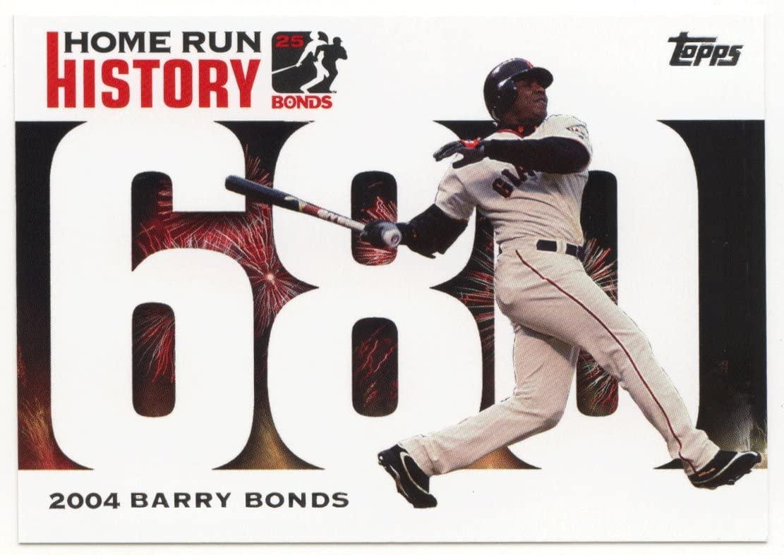 Barry Bonds (Baseball Card) 2005 Barry Bonds Home Run History # BB 680 NM/M