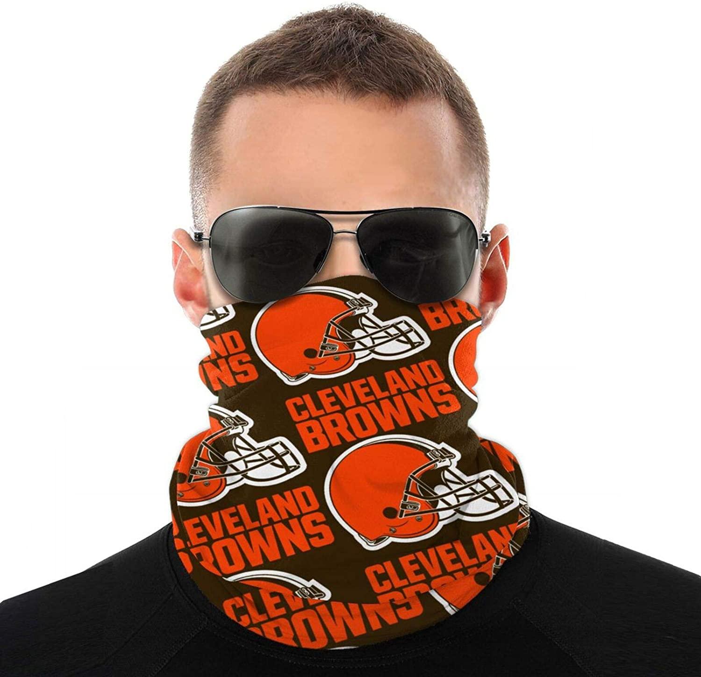 KANBGMTR Men and Women Cleveland Brown Football Bandanas, Neck Gaiter, Headwear, Magic Scarf, Headband for dust Sun Wind Unisex Balaclava Cap Face Shield