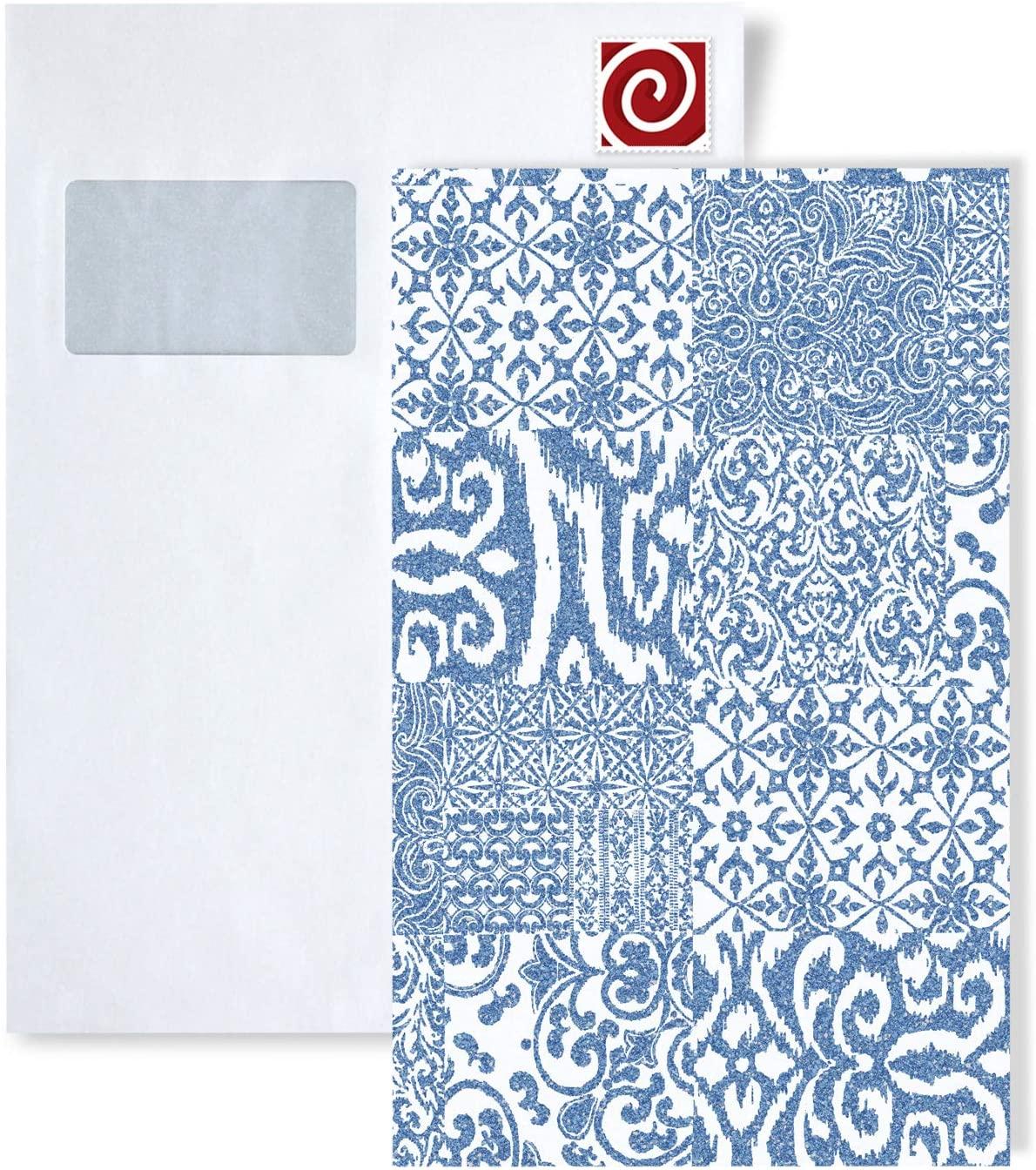 1 Sample Piece S-VD219149-DI Profhome Elegant Baroque Collage Wallpaper Sample in DIN A4 Size