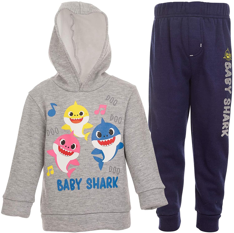 Pinkfong Baby Shark Boys Fleece Pullover Hoodie and Pants Set